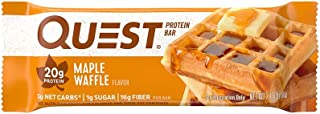Quest Maple Waffle Protein Nutrition Quest Bar, 60 grams (Pack of 12)