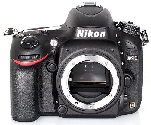 Nikon D610 SLR-Digitalkamera (24,3 Megapixel, 8,1 cm (3,2 Zoll) Display, Full HD, Superempfindliches AF-System) nur Gehäuse schwarz (Generalüberholt)