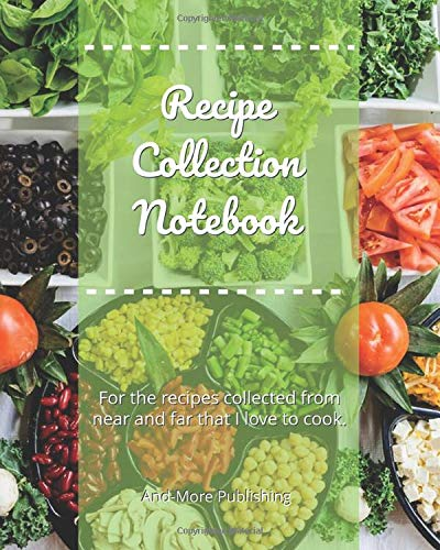 Recipe Collection Notebook: Paperback 8x10ins 120 Page Blank Recipe Journal For Your Recipe Collection, Plenty Of Room For Recipes And Where/Who It Came From, Style Your Own Contents Pages.