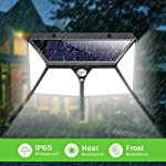 Solar Lights Outdoor 254 LED,【Automatic Illumination】Feob Solar Motion Sensor Security Lights [2500LM-2500mAh] - 3 Optional Modes, IP65 Waterproof Solar Lamp Solar Powered Wall Light (2 Pack) 6