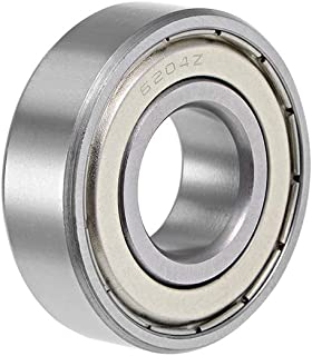 uxcell 6204ZZ Deep Groove Ball Bearing 20x47x14mm Double Shielded ABEC-3 Bearings 1-Pack