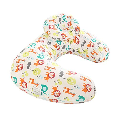 Motherly Flurry Fickle Baby Feeding Nursing and Maternity Pillow (100% Cotton Cover) (Zoo)