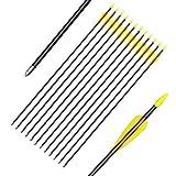 ELONG OUTDOOR Frecce in carbonio mista per la caccia all'arco, 28