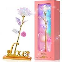 Zhupig Artificial LED Light Flower Unique with Luxury Gift Box
