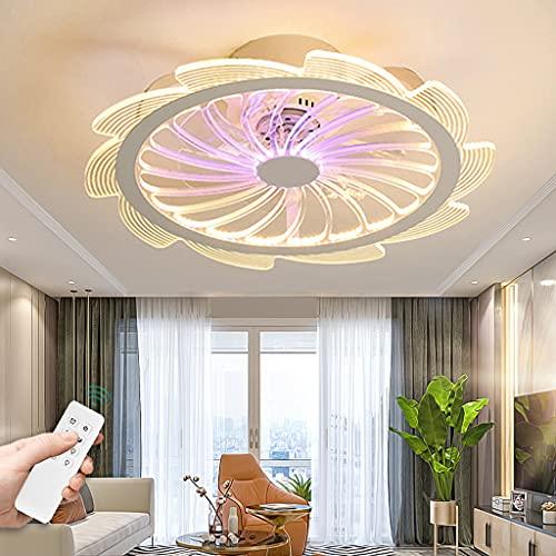 Ventilador De Techo Con Iluminación Velocidad Del Viento Ajustable Regulable Control Remoto Ventilador Luz De Techo LED Moderno Lámpara De Techo Para Dormitorio Sala De Niños Sala De Estar Comedor