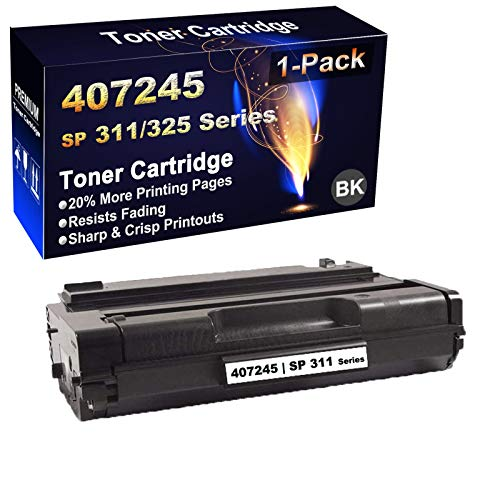 1-Pack (Black) Compatible SP 311DNw, 311SFNw, 325DNw, 325SFNw Printer Toner Cartridge (High Capacity) Replacement for Ricoh 407245 Black Toner Cartridge