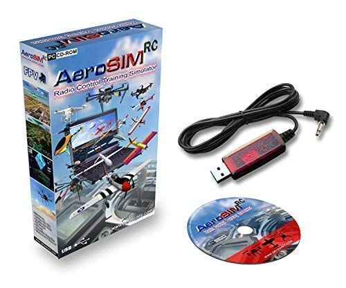 Simulador Drones AeroSIM RC | Simulador Entrenamiento Piloto de Dron | Avion Helicoptero Multirrotor RPA | Flight Training Drone Simulator | Adaptador WFL-miniDIN4