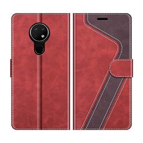 MOBESV Handyhülle für Nokia 6.2 Hülle Leder, Nokia 6.2 Klapphülle Handytasche Hülle für Nokia 6.2 Handy Hüllen, Modisch Rot