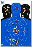 12x 18Triple Silueta Salpicaduras de reactiva Shooting Target–Big Dawg Objetivos