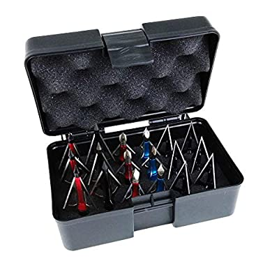 Smarkey Archery Broadheads Arrowheads 100 Grain for Crossbow and Compound Hunting - Include 18pcs Broadheads and Storage Box Case