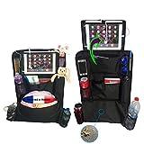 NeaTi kit de 2 organisateurs/organiseurs de Voiture pour siège arrière. Protège arrière de sièges Auto XL. Support Tablette 2 Positions (Haute et Basse). Protection imperméable à Nettoyage Facile