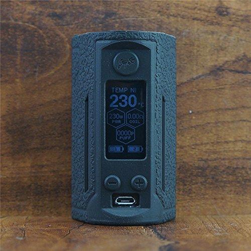 ModShield for Wismec Reuleaux RX GEN3 Dual 230W TC Silicone Case ByJojo Cover Shield Wrap Skin Sleeve (Black)