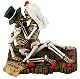 SUMMIT COLLECTION Love Never Dies Passionate Wedding Skeleton Couple Figurine, Resin Desk and Shelf Decoration