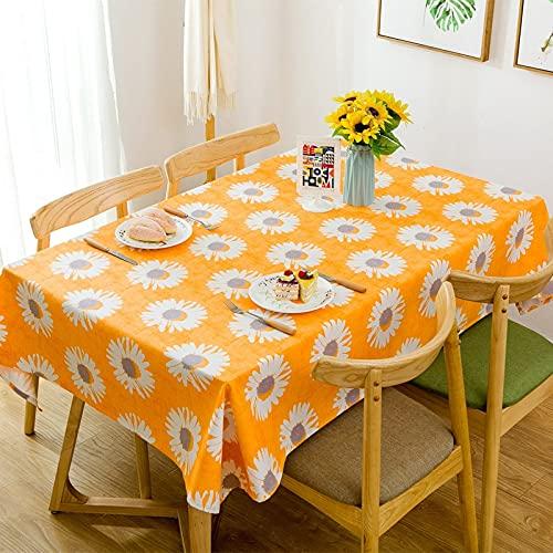 XXDD Patrón de Flores literario Mantel Rectangular encimera Mesa de Centro Rectangular Mantel Cubierta de Mesa de Comedor A2 140x200cm