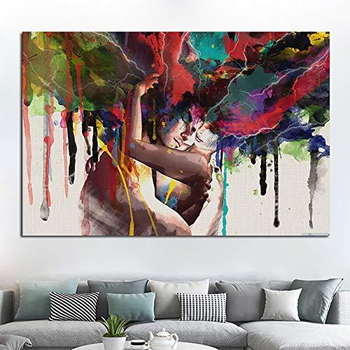 GJQFJBS Hd Aquarell Wilde Tier Ölgemälde Poster Und Bild Drucken Leinwand Malerei Wohnzimmer Sofa Dekoration A5 30x40 cm
