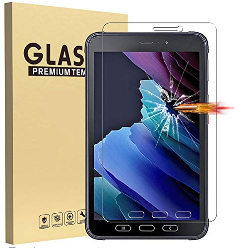 WHWOLF [2 PC] Screen Protector for Samsung Galaxy Tab Active3 Tempered Glass Film High Definition Anti-Scratch Tablet Protective Film