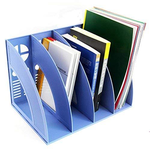 Recinto almacenamiento escritorio módulo índice 4*compartimentos estantería organizador caja almacenaje polipropileno porte-fichier clasificador para papel A4 Documento Carpeta revista cuaderno CD