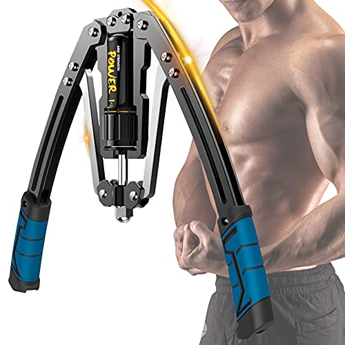 Hydraulic Power Twister, 10-200KG Adjustable Arm Exerciser Heavy Duty Spring Chest Expander for Shoulder, Arms and Chest Exercises for Men and Women Home Fitness Equipment