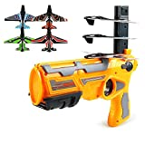 Asmoda 2021 New Hot Toy - Catapult Plane,One-Click Ejection Model Foam Airplane with 4 Pcs Glider Airplane Launcherfor Outdoor.Outdoor Sport Game Toy Gifts for Kids.(Yellow……