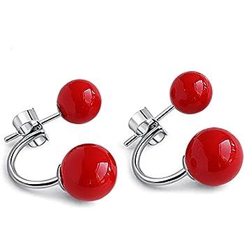 925 Sterling Silver Pearl Stud Earrings Long Style For Women Retro Jewellery