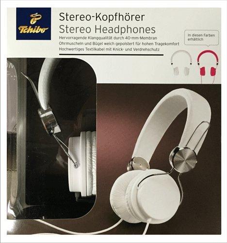 TCM Tchibo Stereo Kopfhörer weiß 40 mm Membran weich gepolstert