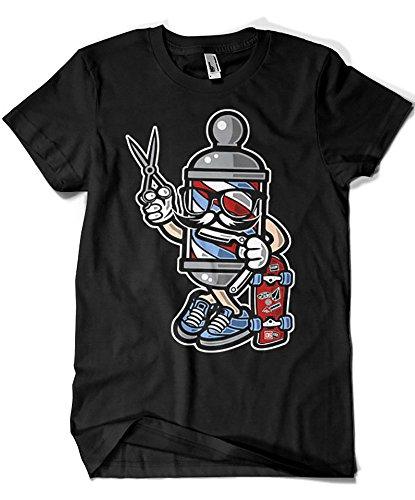1548-Camiseta Premium, Barber Skater
