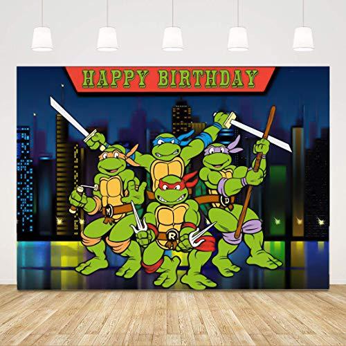 Ninja Turtles Birthday Party Backdrop