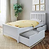 Max & Lily Twin Bed Storage Drawers, White