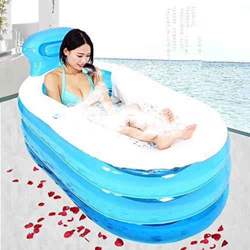 Baignoire gonflable bleue gonflable de piscine gonflable d'adultes de Bath d'enfants épais de pliable de baignoire , blue , 130cm