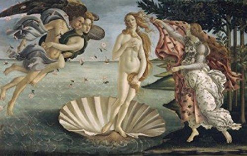 The Birth of Venus ca 1484 Sandro Botticelli (1444-1510 Italian) Tempera on wood panel Galleria degli Uffizi Florence Italy Poster Print (24 x 36)