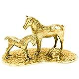 Padres e hijos Hecho en Reino Unido Artístico Animal Figura Colección (bañoda en oro de...