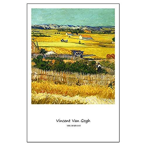 Colección de Van Gogh, carteles de arte clásico e impresiones, imágenes artísticas, arte abstracto, familia, pinturas en lienzo sin marco A21 30x45cm