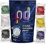 Plastica modellabile Polydoh + 6 confezioni gratuite di granuli coloranti (250g) [come polymorph,...