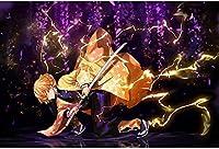 鬼 滅 の刃 ジグソーパズル 鬼殺隊 パズル アニメパターン 萌えグッズ 大人用 子供用 パズル 減圧 纸製のパズル(300pcs C)