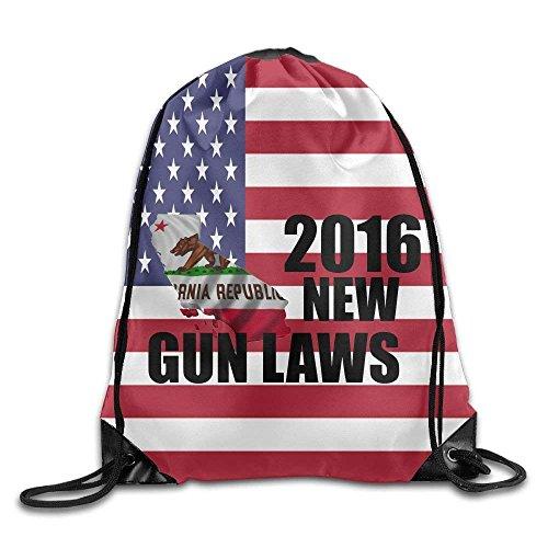 DearLord California Gun Laws 2016 Fashion Reisetasche mit Kordelzug und Fahrradbalken-Mundbeutel & Buggy-Tasche