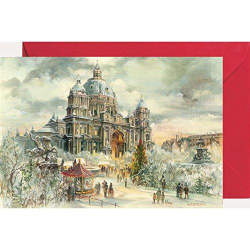 Ansichtskarte mit Adventskalender