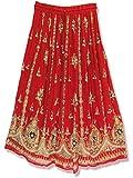 Radhykrishnafashions Indian Yoga - Falda larga para mujer con lentejuelas, diseño de escoba