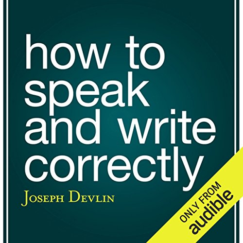 How to Speak and Write Correctly cover art