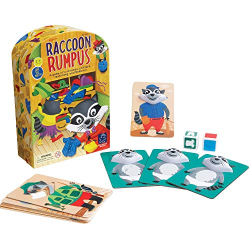 Educational Insights Raccoon Rumpus Game Dice Rolling Color Matching Preschool Game Ages 3