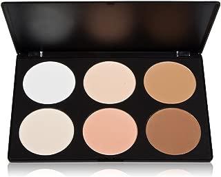 Vodisa 6 Colour Contour Face Powder Kit-Base Foundation Corrector Palette-Sleek Pigment Pro Pressed Powder Palette-Cosmetics Highlighting Contouring Bronzing Professional Beauty Make up Bronzer Pallet