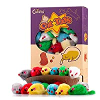 ❤ Qualified Furry Synthetic fur, Criterion of Detection US FDA 21CFR (Olefin Polymers) / EU CE EN-71(Plush Toys) ❤ Furry Synthetic fur Mice Skin and Plastic Body Rattle Sound ❤ Interactive Play, Independent Play, Indoor Play ❤ 36 Pack / Box, Assorted...
