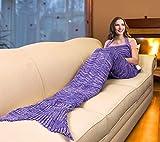 Catalonia Mermaid Tail Sherpa Blanket, Super Soft Warm Comfy...