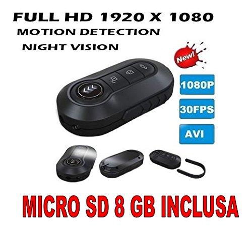 Comprare Web Mando a distancia con cámara para coche espía de vídeo falso Full HD 1920 x 1080P + Micro SD 8 GB incluido llavero cámara CW65