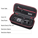 """Smatree Hard Carrying Case Compatible with DJI Osmo Pocket 2/Osmo Pocket, Extension Rod, OSMO Pocket Waterproof Case and… 13 Size: Small, Dimensions: 7.6"""" x3.5"""" x2.8"""" compact and easy to store in backpacks or carry-on luggage; recommend for traveling and home storage. Nice shaped compartments fit for osmo pocket, it can holds 1 x osmo pocket,4 x Neutral density filters,2 x SD Cards,2 x Smartphone Adapter(Refer to pictures). With comfortable hand strap for easy carrying. The hand strap can be easily attached to a belt or large bag."""