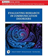 Evaluating Research in Communication Disorders (8th Edition)
