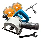 ISC DZR110 1600 W Electric Wall Chaser/Slotting Steel Concrete Cutting Machine Handheld Tile Groove Cutter Cutter (Blue)