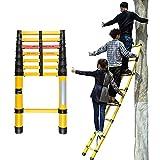 Escalera extensible Escalera telescópica Escalera Telescópica Aislante Plegable -3m/4m/5m, Escaleras de Escalada Extensibles Portátiles Profesionales, Escaleras Telescópicas de Fibra de Vidrio para Tr
