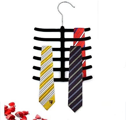 PKWEHKG 1PC New Tie Belt Towel Velvet Flocked Non-Slip Scarf Shawl Tie Belt Clothes Hanger Racks Holders