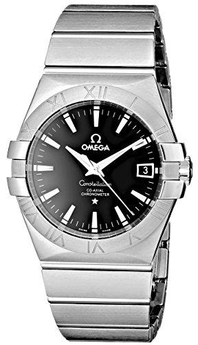 Omega Men's 123.10.35.20.01.001 Constellation Chronometer Black Dial Watch