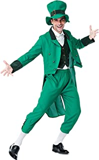 green leprechaun suit